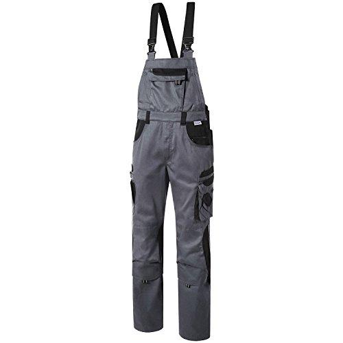 Pionier 5431-28 Latzhose'Tools' grau/schwarz Size 28