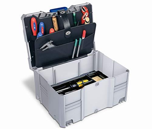 Tanos Werkzeug-systainer® T-Loc III (2-teilig) mit Werkzeugeinsatz und 2-tlg. Werkzeugdeckel lichtgrau