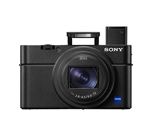 Sony RX100 VII | Premium Bridge-Kamera (1,0-Typ-Sensor, 24-200 mm F2.8-4.5 Zeiss-Objektiv, Autofokus zur Augenverfolgung für Mensch und Tier) & AG-R2 Griffbefestigung, schwarz