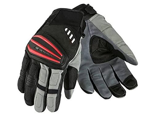 Pokem&Hent Los guantes son adecuados para motocicletas todoterreno, moto, motocicleta, carreras, color negro, rojo, XL