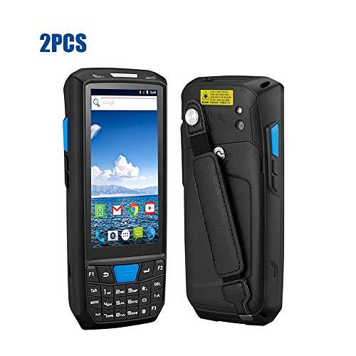 ZUKN Ordinateur de Poche PDA Data Collector Terminal 1D 2D QR Laser Lecteur de Codes Barre Rapide Prise en Charge Bluetooth WiFi GPS 4G et NFC + Caméra Android 8.0 Scanner, Two Pieces