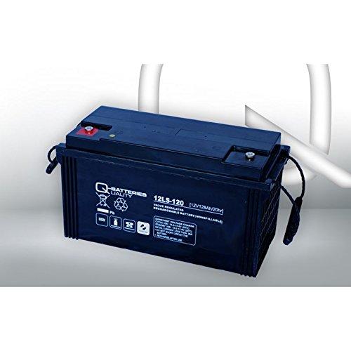 Batterie au plomb Q-Batteries 12LS-120 / 12 V - 128 Ah - Type standard AGM - 10 ans