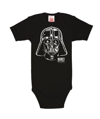 Logoshirt Star Wars - La Guerre des Étoiles - Dark Vador - Darth Vader Portrait Body pour bébé - Gigoteuse - Noir - Design Original sous Licence, Taille 50/56, 0-28 Mois