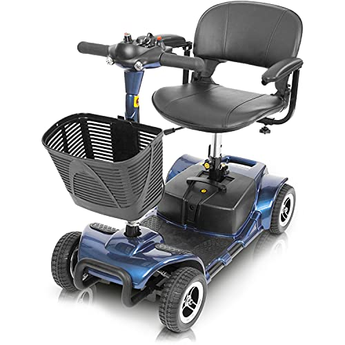 Vive 4 Wheel Mobility Scooter - Electric Powered Wheelchair Device - Compact Heavy...
