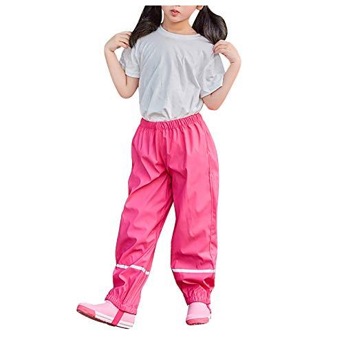 Boys Girls Rain Pants Kids Rainsuit Toddler Raincoat Waterproof Lightweight Outdoor Overalls For 1-6years Girl Boy