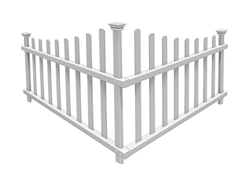 "Zippity Outdoor Products ZP19007 Ashley Vinyl Fence, 42"" x 30"", White"