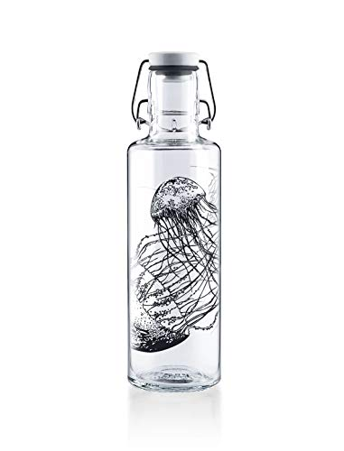 Soulbottle Flasche, Glas, Jellyfish in The Bottle, 0,6 Liter