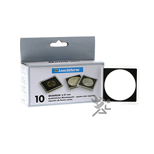(10) Lighthouse Square 41mm 2″ x 2″ Quadrum Snaplock Coin Holder Capsules for American 1oz Silver Eagle