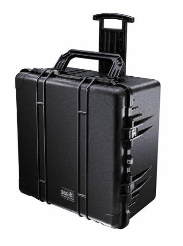 PELI 1640 Robuster Trasportkoffer, IP67 Wasser- und Staubdicht, 130L Volumen, Hergestellt in den USA, Mit Schaumstoffeinlage (Anpassbar), Schwarz