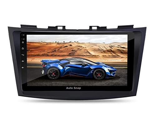 Auto Snap 9 Inch Full HD 1080 Touch Screen Double Din Player Android 10.1 Gorilla Glass IPS Display Car Stereo with GPS/Wi-Fi/Navigation/Mirror Link Compatible for Old Swift 2011 TO 2017 FREE 8 LED CAMERA