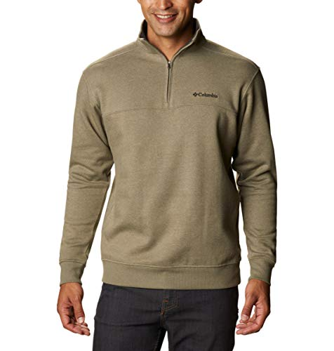 Columbia Men's Hart Mountain II Half Zip Jacket, Stone Green Heather, Large