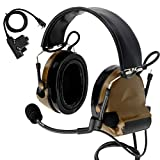 TAC-SKY COMTA II Tactical Headset Hearing Defender Noise Reduction Sound Pickup for Airsoft Sports (Coyote Brown)