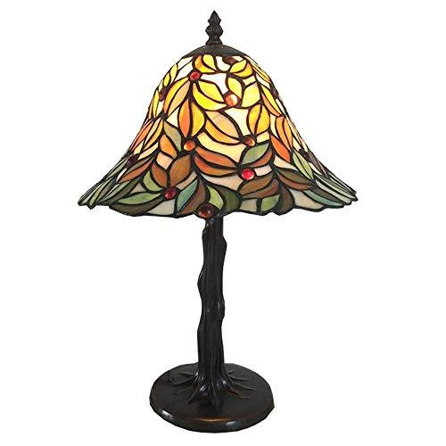 AWCVB Tiffany Art Pastoral Lámpara De Mesa Decorativa Personalizada Boda Lámpara De Iluminación De Lámpara De Mesa Creativa