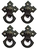 Arts and Crafts Mission Style Ring Pulls Hardware Oil Rubbed Bronze 4 Pack