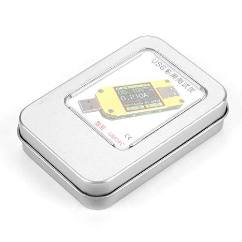 Medidor de corriente, multímetro USB de alimentación de cargador para el hogar(UM34C)