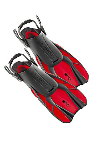 OCEAN REEF - Duo Fins – Aletas profesionales para Snorkeling y Apnea – 5 colores y 2 tamaños diferentes (rojo, grande/extragrande)