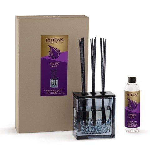 ESTEBAN Vaso diffusore profumo casa FIGUE NOIRE 250ml a bacchette con vaso vetro