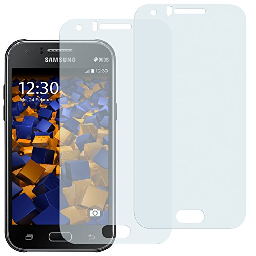 mumbi Schutzfolie kompatibel mit Samsung Galaxy J1 Folie klar, Bildschirmschutzfolie (2x)