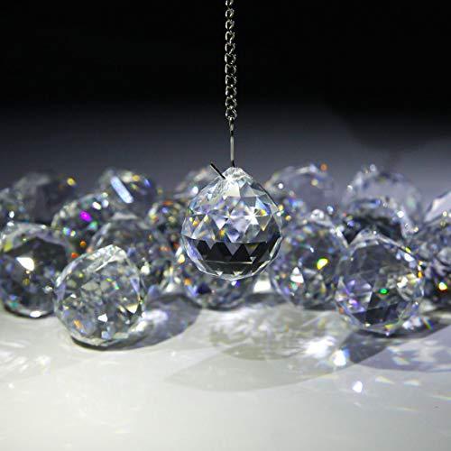 Surepromise 20 Stück Kristalle zum Aufhängen Kristall Glaskugel ø 30 mm Glitzer Glaskugeln