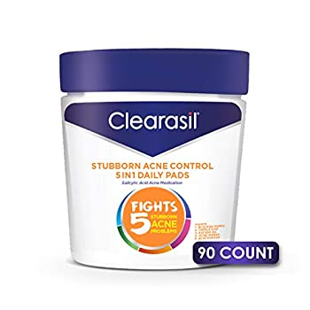 Clearasil Stubborn Acne Control 5in1 Daily Facial Cleansing Pads 90 Count  Packaging may vary