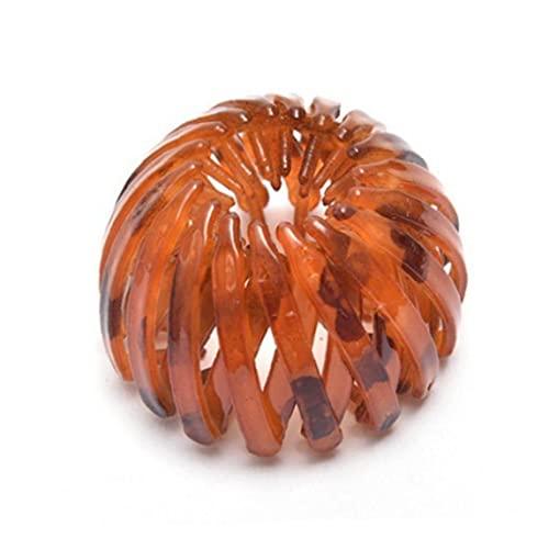 Retráctil Bird bucles de pelo nido en forma de pinzas de pelo de la cola de caballo pelo de la horquilla Accesorios naranja, trenza de Mantenimiento