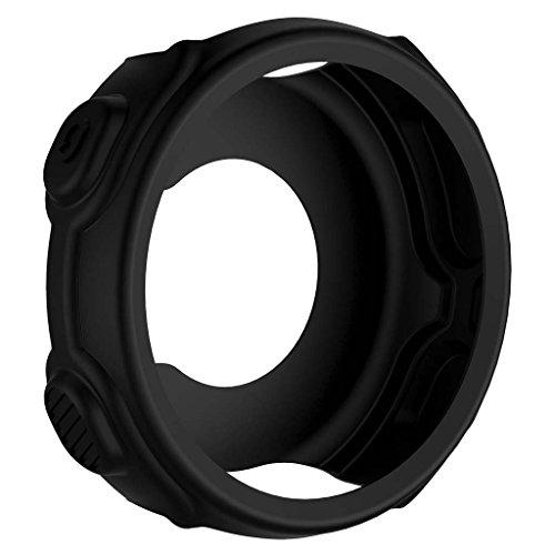 Jiamins Silikon Schutzhülle für Garmin Forerunner235 735XT Sportuhr (Schwarz)