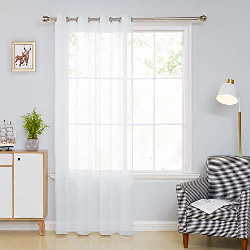 Deconovo Visillos Blancos Salón Infantiles para Ventanas Dormitorio C