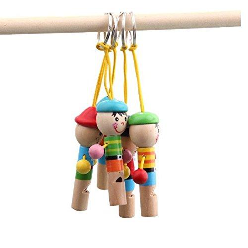 Bazaar Les enfants de bébé en bois mini-pirates développement musical sifflet jouet