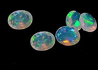 Ópalo natural etíope de calidad AAA 6 x 4 mm facetado ovalado 3 piezas de piedras preciosas sueltas