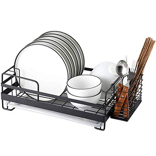 Equipo para el hogar Rejilla de drenaje Rejilla para platos de acero inoxidable Rejilla para colgar Platos Rejilla de almacenamiento de cocina de una sola capa para escurridor de platos doméstico (