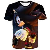 Sdfsffjjekl Sonic The Hedgehog T-Shirt Impression colorée T-Shirt Enfants Lightweight T-Enfants Casual Manches Courtes T-Shirts (Color : A16, Size : 130)