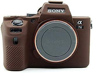 BolinUS Schutzhülle für Sony A7II, ultradünn, leicht, Gummi, weiches Silikon, für Sony Alpha A7ii A7R2 A7Rii A7sii (Kaffee)