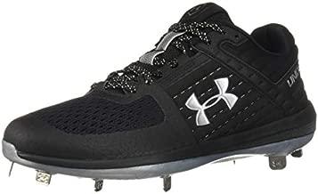 Under Armour Men's Yard Low ST Baseball Shoe, Black (002)/Metallic Silver, 7