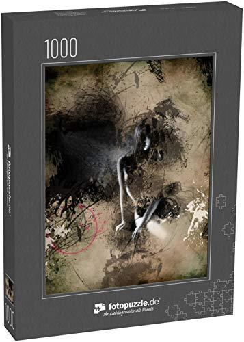 Puzzle 1000 Teile Modische Frau. Handbemalte Illustration - Klassische Puzzle, 1000 / 200 / 2000 Teile, edle Motiv-Schachtel, Fotopuzzle-Kollektion 'Erotik'