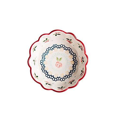 CHUNSHENN Bowls Dishes Cereza de la vendimia Inicio bebé Vajilla Alimentación Suplemento de cerámica plato de salsa Cuenco Cuenco Ensaladera 6 pulgadas Salad Bowls Home Kitchen...