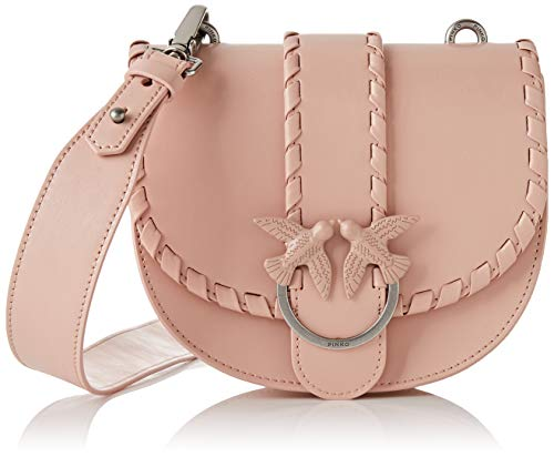 Pinko Round Love Twist, Borsa a Spalla Donna, Rosa (Light Pink), 7x17x20 cm (W x H x L)