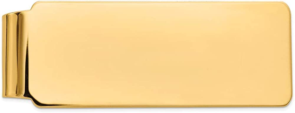 Solid 14k Yellow Gold Men's Slim Holder Selling Max 40% OFF Card Credit Business Mon