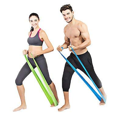 ZEH Übungsbänder/Resistance Bands Gummi Einstellbare Länge Griffige Universal-Durable extralange Ultra Light (UL) Pilates Gym Unisex FACAI (Color : Blue)