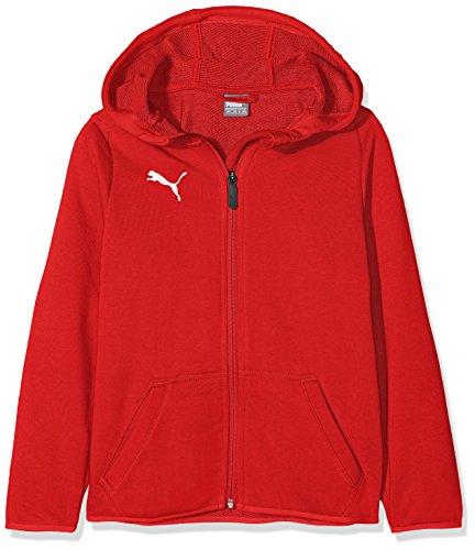 Puma Liga Casuals Hoody Jacket, Giacca Bambini, Red White, 140
