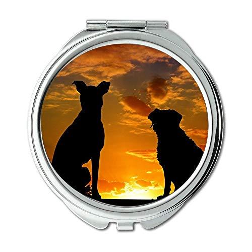 Espejo de viaje, espejo retrovisor para perros, animales, amigos, amigos, amigos, amigos, amigos, espejo de bolsillo, espejo portátil