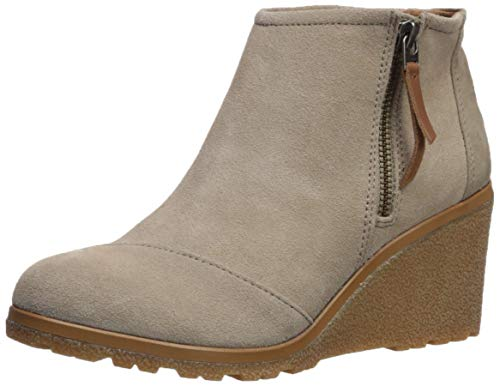 TOMS Women's Avery Ankle Boot, Desert Taupe Suede Mix, 8 Medium US