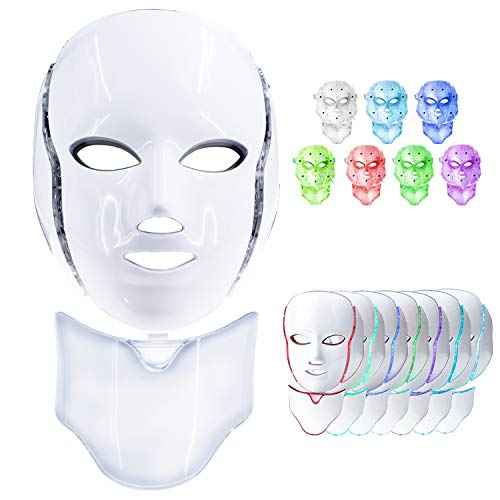 Led Face Mask, 7 Colors Led Ligh...