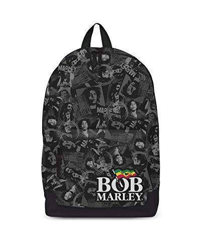 Rock Sax Bob Marley Mochila Collage Mochila en blanco y negro