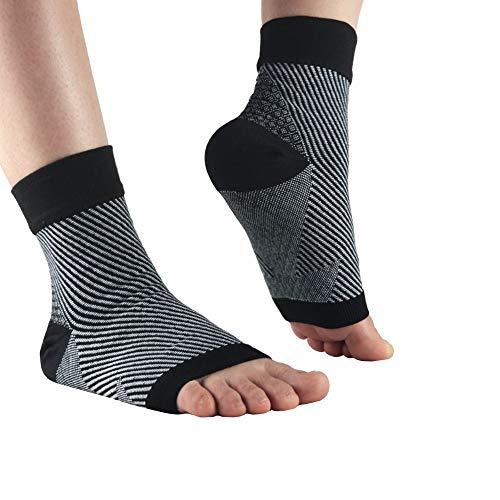 NewZC - Calcetines de Compresión para Fascitis Plantar Antifatiga Tobillera Tobillera Calcetines Deportivos, para el Cuidado de Los Pies Calcetines con Soporte de Tobillo- Negro (S/M)