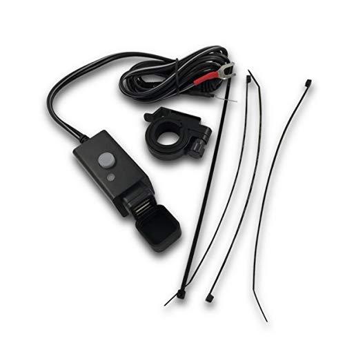 GOFORJUMP 1 Jeux Moto Double Ports USB Chargeur résistance à l'eau Couvercle en Caoutchouc Interrupteur d'alimentation LED indicateur de Puissance Chargeur