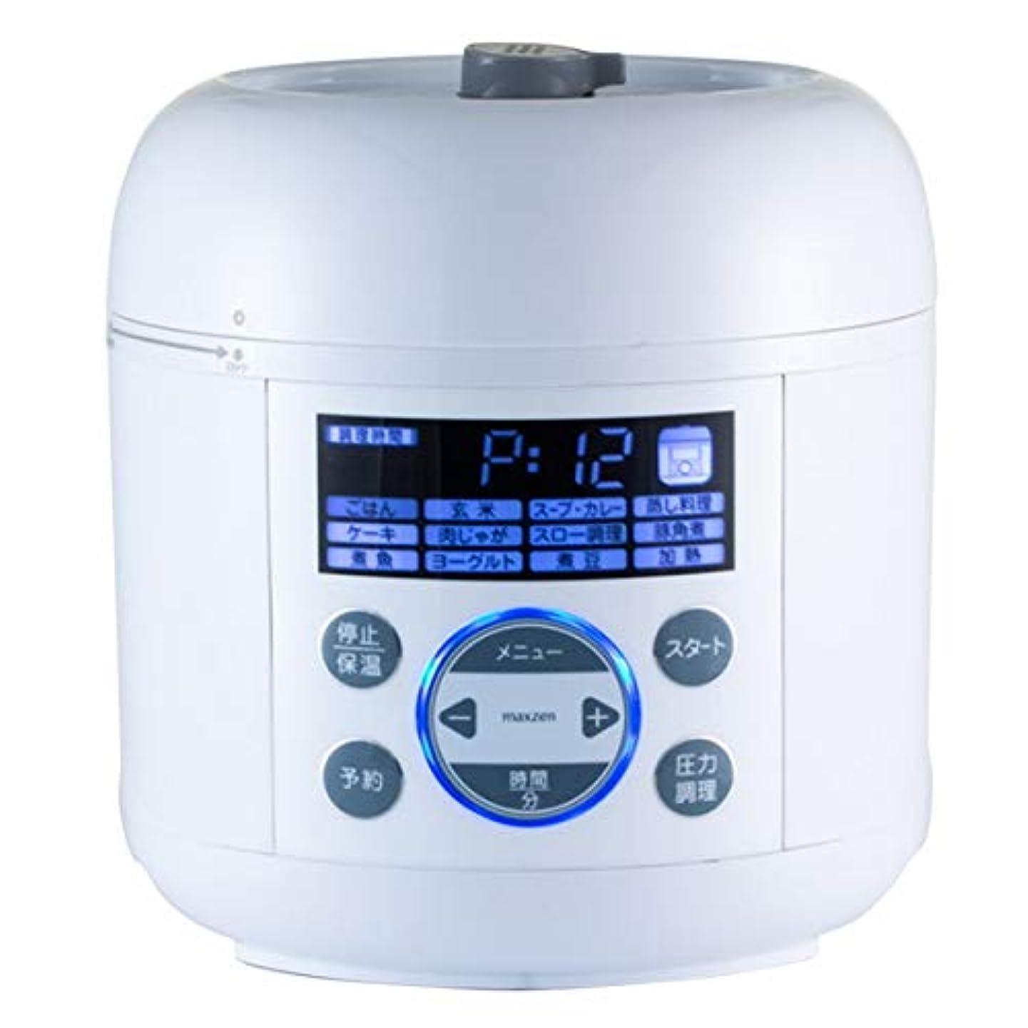 好む液化するホイップ炊飯器 圧力炊飯器 電気圧力鍋 3合 一人暮らし ひとり暮らし maxzen マクスゼン レシピ本付き 圧力調理 蒸し調理 炊飯 ヨーグルト 発芽玄米 無水調理 スロー調理 マイコン 1台6役 電気圧力なべ コンパクト ホワイト 簡単操作 保温 時短 PCE-MX301-WH
