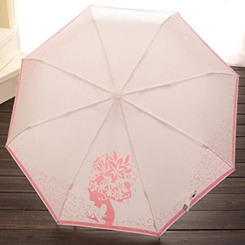 AG Outdoor Automatic Umbrella Jcoco Fashion Vollautomatische Klapp Kreative Prinzessin Prinzessin Klein Frisch