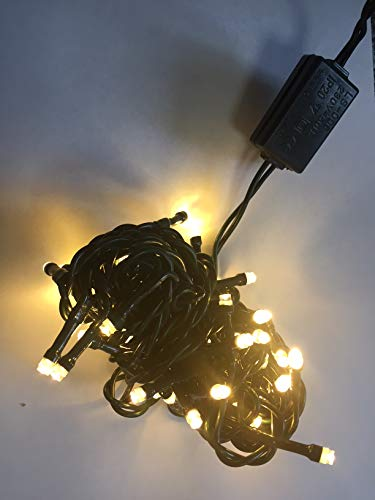 LED Mini-Lichterkette 35er warmweiß / grün ein Strang innen 09267