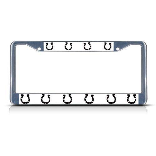 License Plate Covers herraduras caballo Caballos cromo Heavy Duty metal License Plate Frame