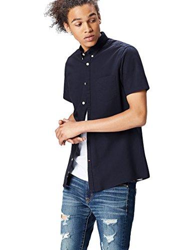 FIND Camisa Clásica Manga Corta Para Hombre, Azul (Navy), XX-Large